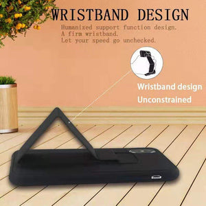 Luxury Wrist Strap Stand Invisible magnetic Case For Samsung