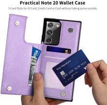 Load image into Gallery viewer, 2021 New Style Luxury Wallet Cover For Samsung Note 20