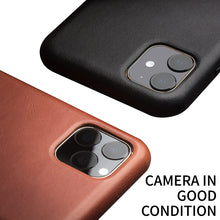 Load image into Gallery viewer, Genuine Leather Silm Back Cover for iPhone