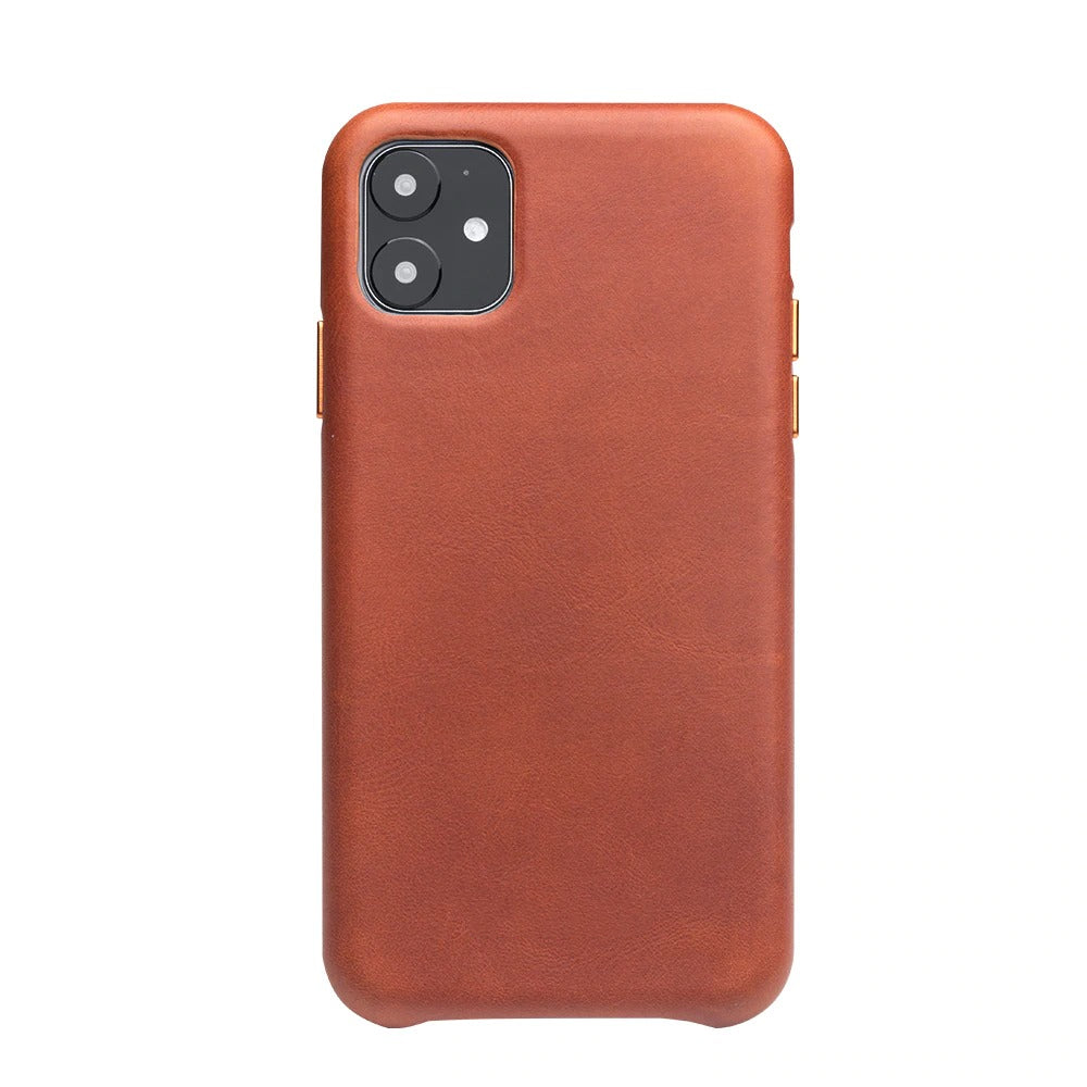 Genuine Leather Silm Back Cover for iPhone
