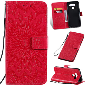 Embossed Sunflower Wallet Phone Case For Samsung Note/S Series