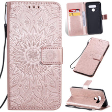 Load image into Gallery viewer, Embossed Sunflower Wallet Phone Case For LG