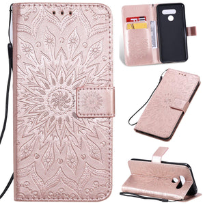 Embossed Sunflower Wallet Phone Case For Samsung A51/A71