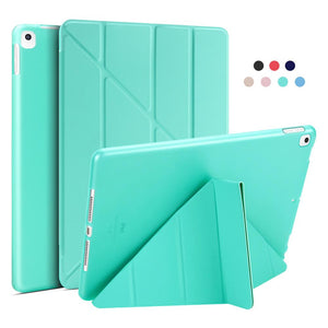 Leather Silicone Soft Back Cover Case For iPad