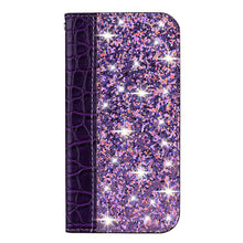 Load image into Gallery viewer, 2020 Luxury Crocodile Pattern Glitter Leather Wallet Flip Case for iPhone