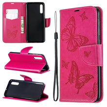 Load image into Gallery viewer, 2020 Embossed Butterfly Pattern Flip Phone Case For Samsung