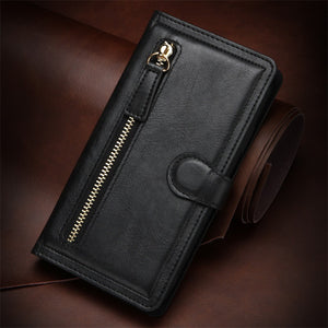 Retro Zipper Wallet Phone Case for iPhone