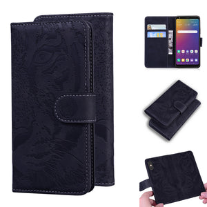 2020 Luxury Embossed Tiger Leather Wallet Flip Case for SAMSUNG A Series