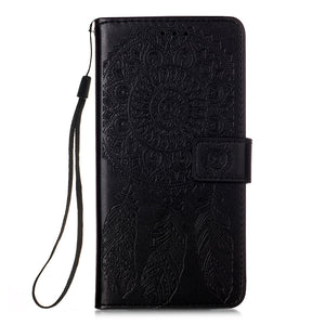 Dream Catcher Printing Flip Leather Case For Samsung