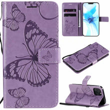 Load image into Gallery viewer, 3D Embossed Butterfly Wallet Phone Case For iPhone