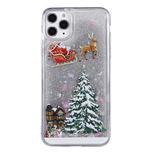 Load image into Gallery viewer, Funny Christmas Tree Quicksand Phone Case For iPhone