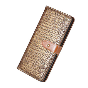 New crocodile pattern creative wallet phone case For Samsung Note Series