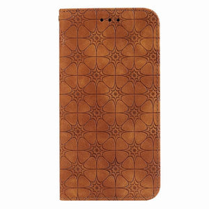 Lucky Flower Embossed Magnetic Flip Wallet Phone Case For Samsung S20 FE