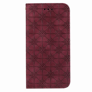Lucky Flower Embossed Magnetic Flip Wallet Phone Case For Samsung Note10