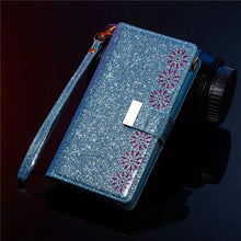 Load image into Gallery viewer, Glitter Sparkly Girly Bling Leather Flip Cover For Samsung Note10 Plus