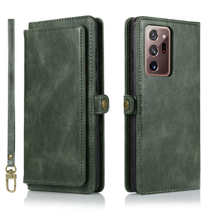 Multifunctional Split Magnetic Wallet Phone Case For Samsung N Series