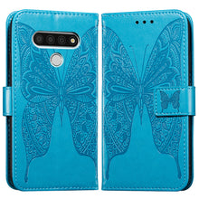 Load image into Gallery viewer, 3D Embossed Two-wing Butterfly Wallet Phone Case For LG