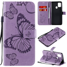 Load image into Gallery viewer, 3D Embossed Butterfly Wallet Phone Case For Samsung A21S