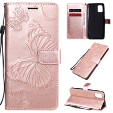 Load image into Gallery viewer, 3D Embossed Butterfly Wallet Phone Case For Samsung A31