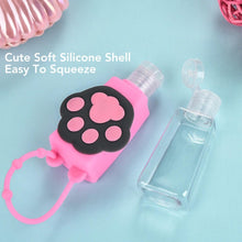 Load image into Gallery viewer, 6 PCS Cartoon Silicone Hand Sanitizer Portable Keychain Empty Bottle