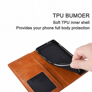 Retro Leather Magnetic Flip Wallet Case For iPhone 12 Mini