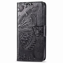 Load image into Gallery viewer, 2021 Luxury Embossed Butterfly Leather Wallet Flip Case For Huawei Y6(2019)