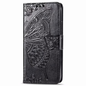 2020 Luxury Embossed Butterfly Leather Wallet Flip Case For Samsung A50