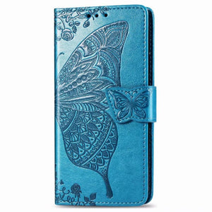 2021 Luxury Embossed Butterfly Leather Wallet Flip Case For Samsung A Series