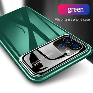 Luxury Mirror Glass Thin Protective Cover For iPhone