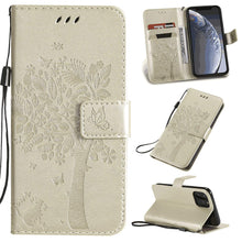 Load image into Gallery viewer, Cat Tree Premium Leather Flip Wallet Phone Case For iPhone
