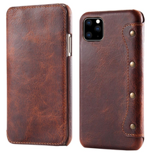 Load image into Gallery viewer, Luxury Genuine Leather Flip Case For Iphone