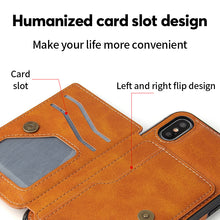 Load image into Gallery viewer, Magnetic Wallet Phone Case For iPhone
