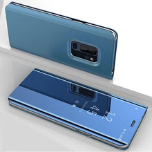 Load image into Gallery viewer, Luxury Mirror Flip Slim Clear View Smart Cover Case For Samsung Galaxy Series