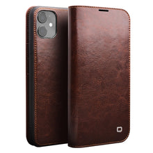 Load image into Gallery viewer, Genuine Leather Flip Case for iPhone