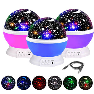 LED Moon Star Rotating  Projector