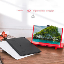 Load image into Gallery viewer, 3D Phone Screen Magnifier Foldable Leather Bracket  for All Smartphone