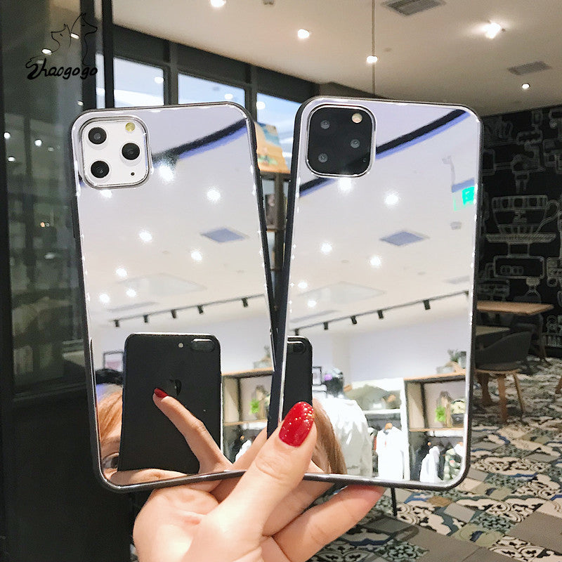 Luxury Clear Shockproof  Makeup Mirror Phone Case For iPhone