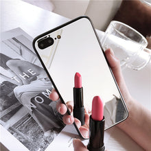 Load image into Gallery viewer, Luxury Clear Shockproof  Makeup Mirror Phone Case For iPhone
