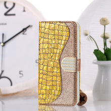 Load image into Gallery viewer, Phone Bags-Laser Powder Wallet Flip Case For iPhone 12 Series