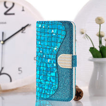 Load image into Gallery viewer, Phone Bags-Laser Powder Wallet Flip Cover For Samsung