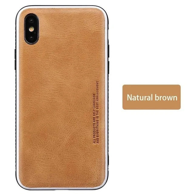 Genuine Leather Business fashion  protective case for iPhone