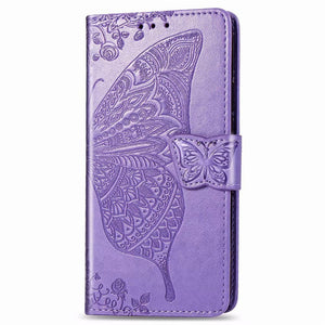 2021 Luxury Embossed Butterfly Leather Wallet Flip Case For iPhone 12 Series