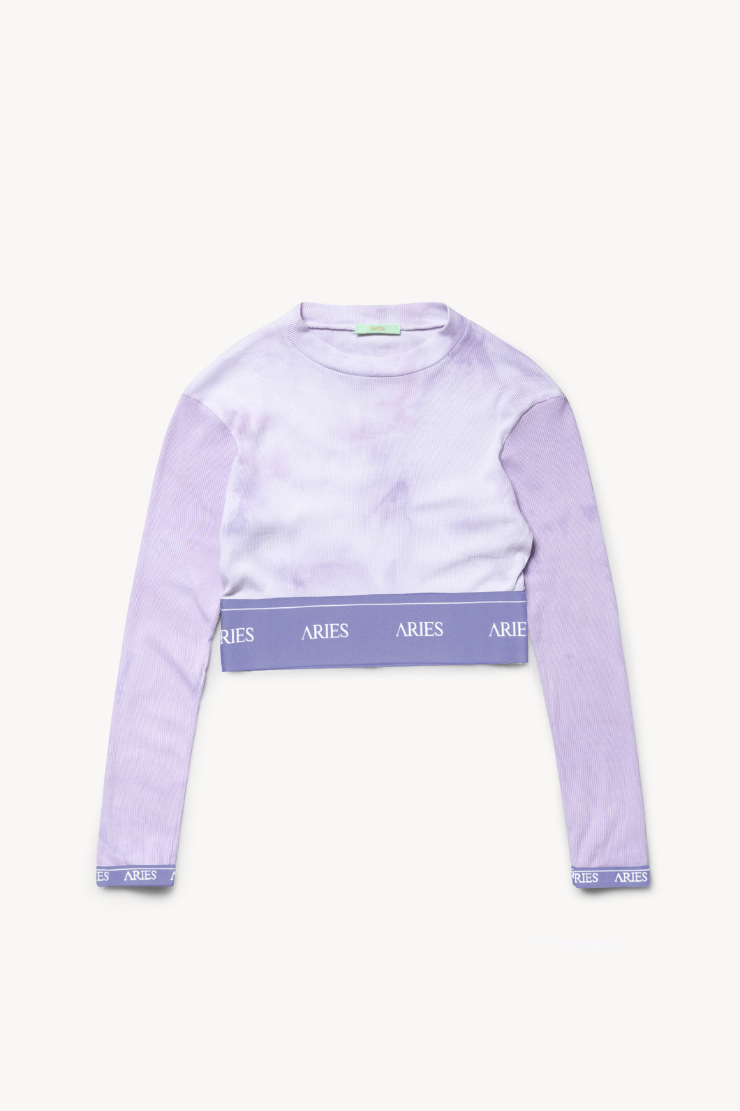 Aries Tie-Dye Rib Crop Top