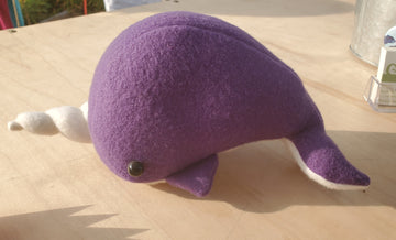 Purple Narwhal Plush
