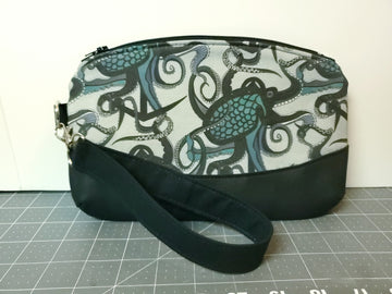 Octopus Ink Wristlet - Grey and Teal