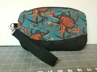 Octopus Ink Wristlet - Red and Teal