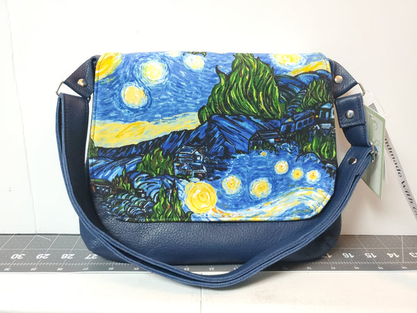 Starry Night Mini Messenger Purse