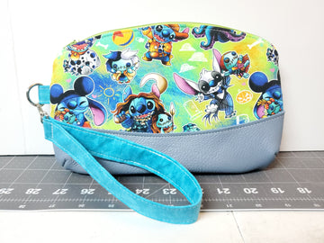Stitch Wristlet -- Custom order for Katie S.