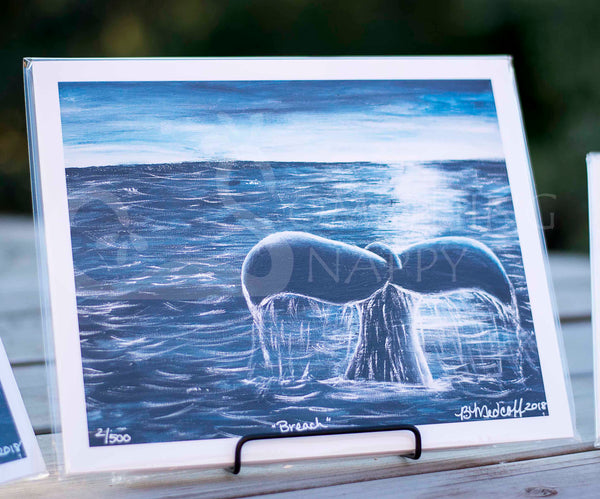 Breach Whale Giclee Prints