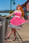 Hot Pink Polka Dot Pin-up Apron